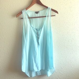 Bright Baby Blue T-back Tank by Theory!